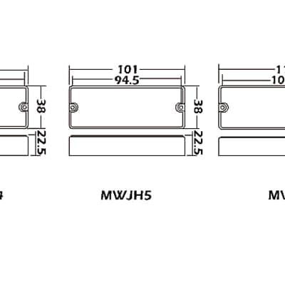 WILKINSON MWJH5 5-String SOAPBAR Passive Bass Humbucker