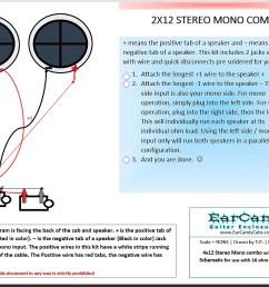 earcandy 2x12 2x10 guitar amp speaker cab series stereo mono combo 8 ohms l 8 ohms  [ 1199 x 854 Pixel ]