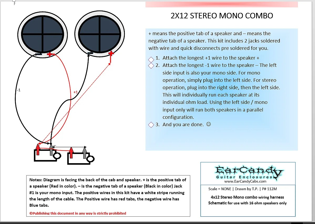 hight resolution of earcandy 2x12 2x10 guitar amp speaker cab series stereo mono combo 8 ohms l 8 ohms