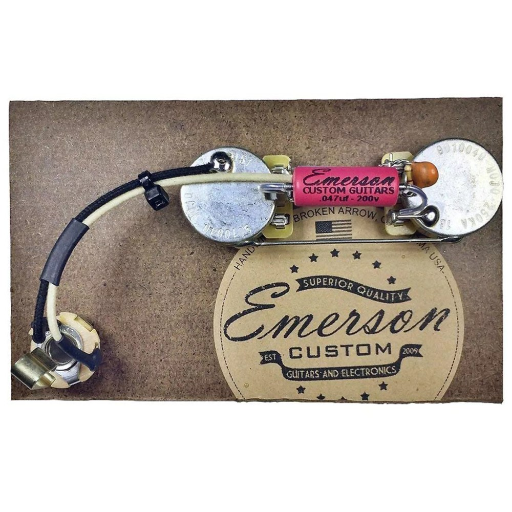 medium resolution of  strat wiring diagram fender emerson custom prewired kit for precision b 250k ohm pots on fat
