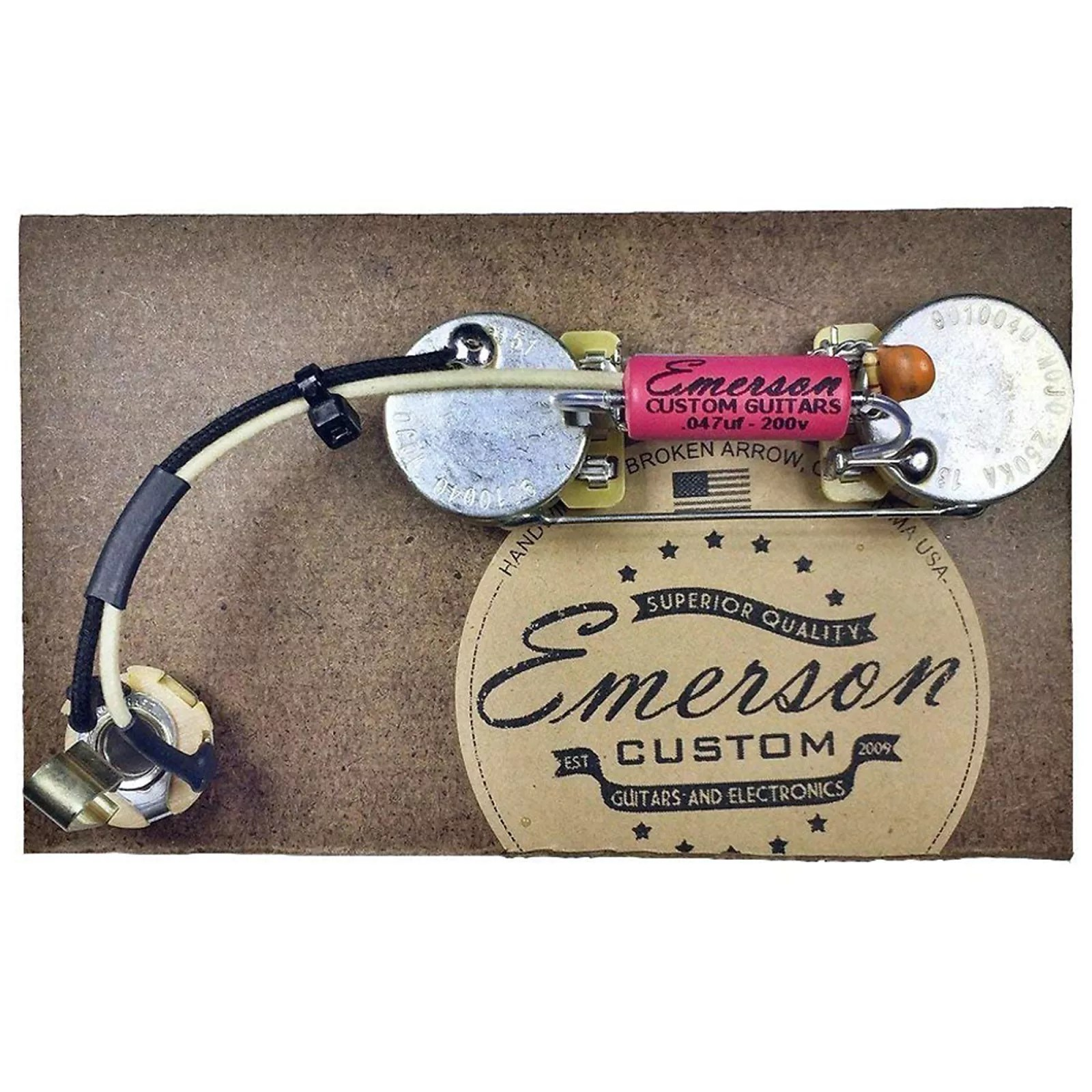 hight resolution of  strat wiring diagram fender emerson custom prewired kit for precision b 250k ohm pots on fat