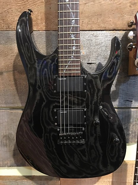 Electric Guitar Black Swirl Rgr521ex1 With Barbed Wire Barbed Wire