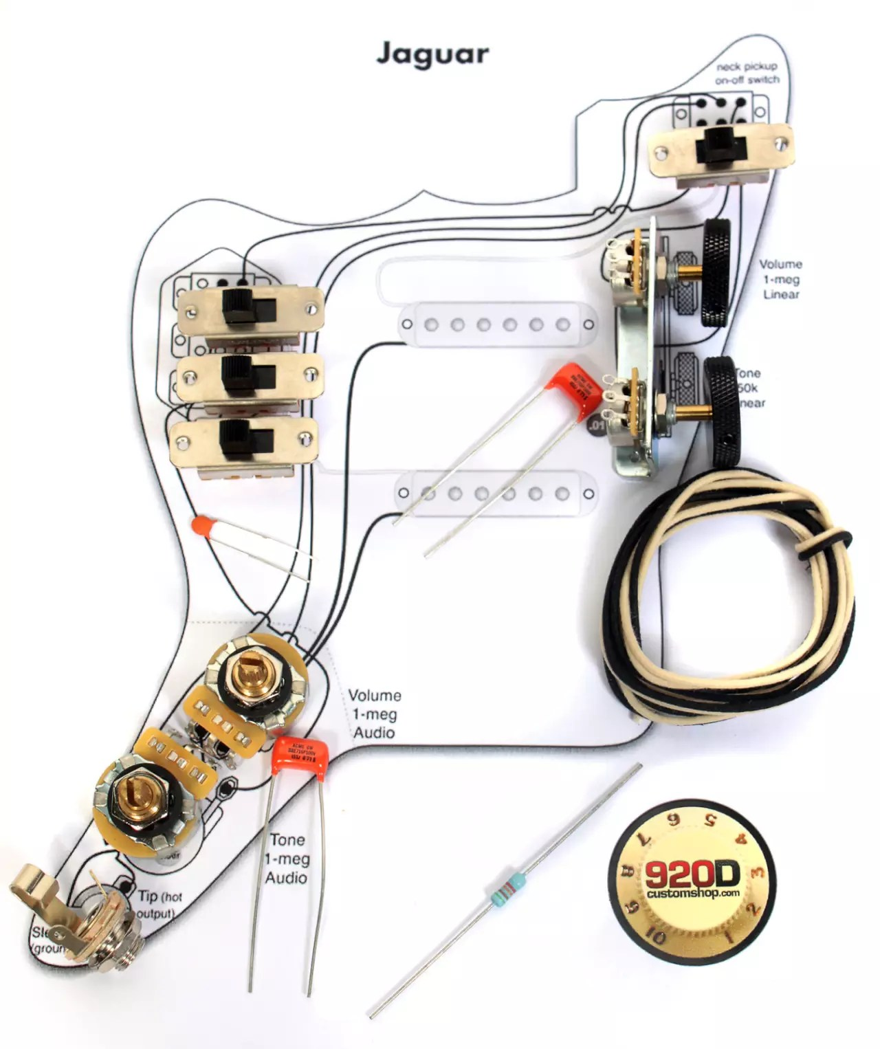 fender jaguar wiring diagram switch vintage 3962 kit pots slider