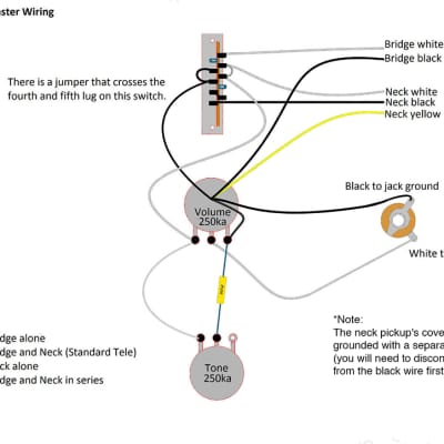 Telecaster 4 Way Wiring Harness Upgrade for Tele-CTS