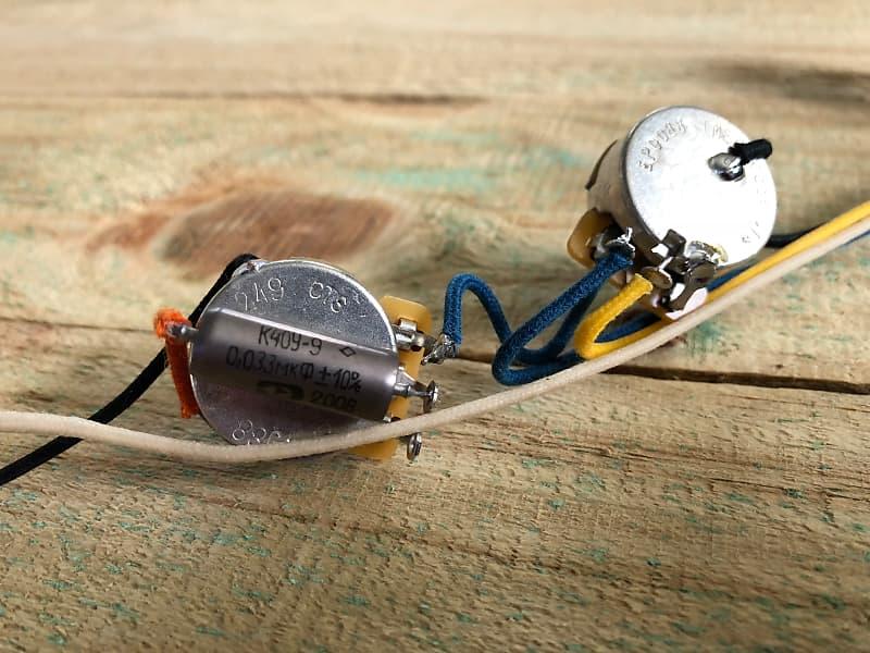 New Jazzmaster Pots Switch Wiring Kit For Fender Guitar Sliders Cap