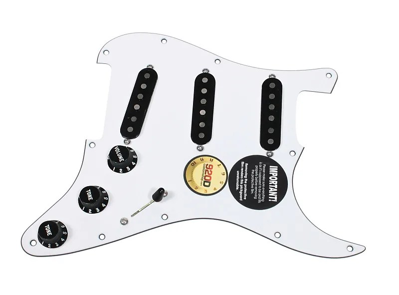 920D Custom Loaded Pickguard for Strat w/ Fender Fat '50s