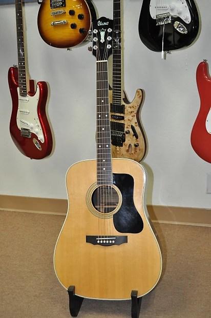 Vintage 70s Ibanez Model Acoustic Dreadnought Guitar