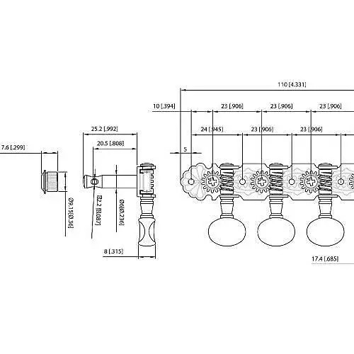 304C Chrome Grover Sta-Tite Mandolin Tuners Machines