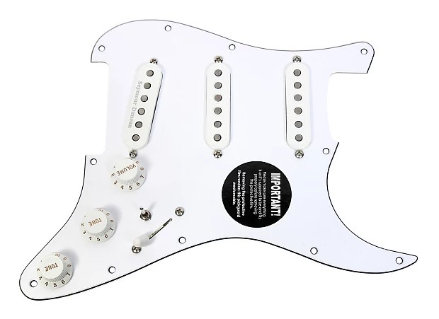 920D Custom Loaded Strat Pickguard Duncan Fender SSL-5