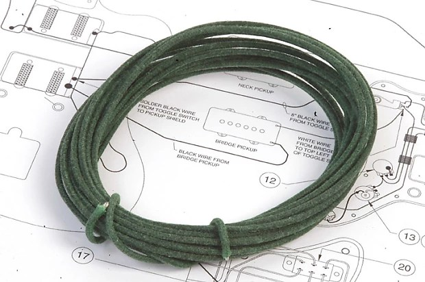 Guitarelectronicscom Stranded 22 Gauge Guitar Circuit Wire Green