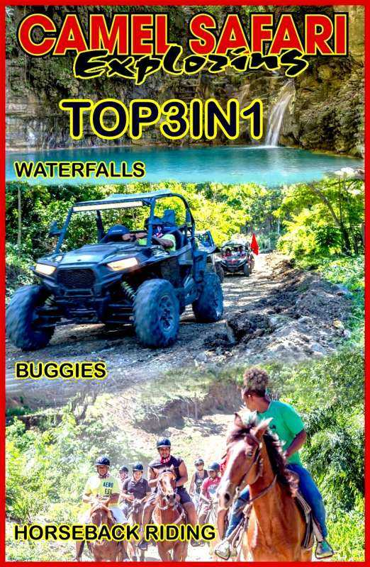 WATERFALLS OF DAMAJAGUA AND SAFARI BUGGY AND HORSEBACK RIDING