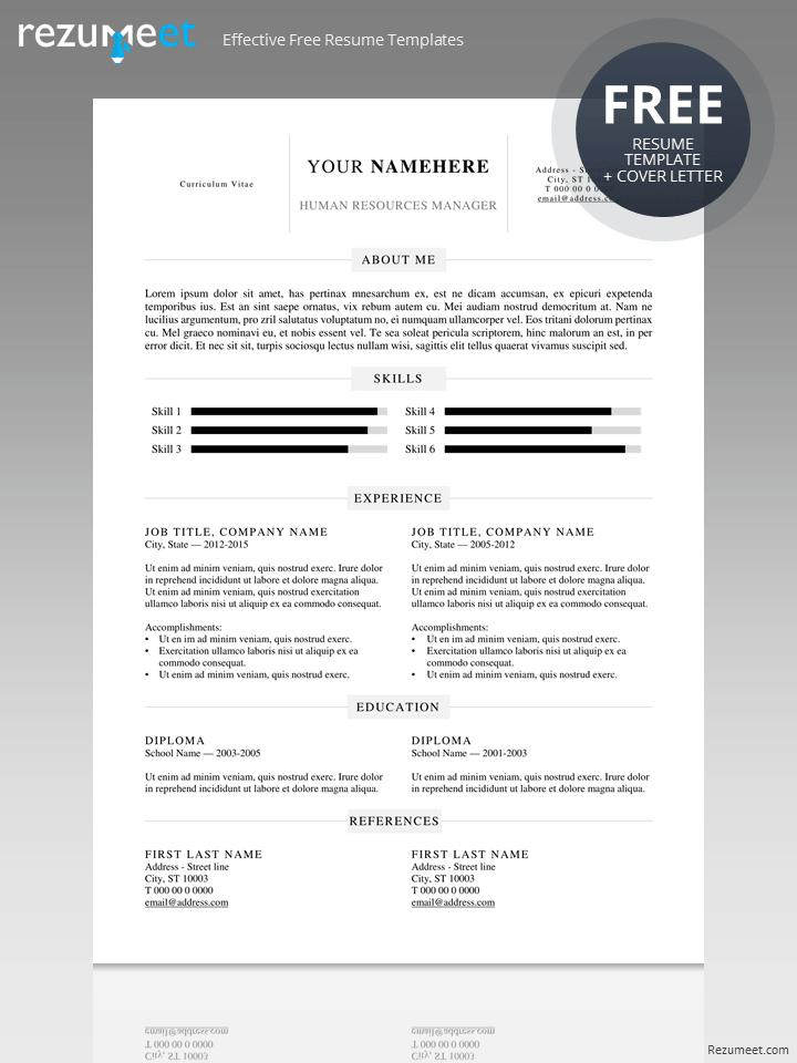 Kallio Simple Resume Word Template DOCX