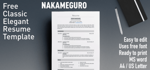 free and simple resume template