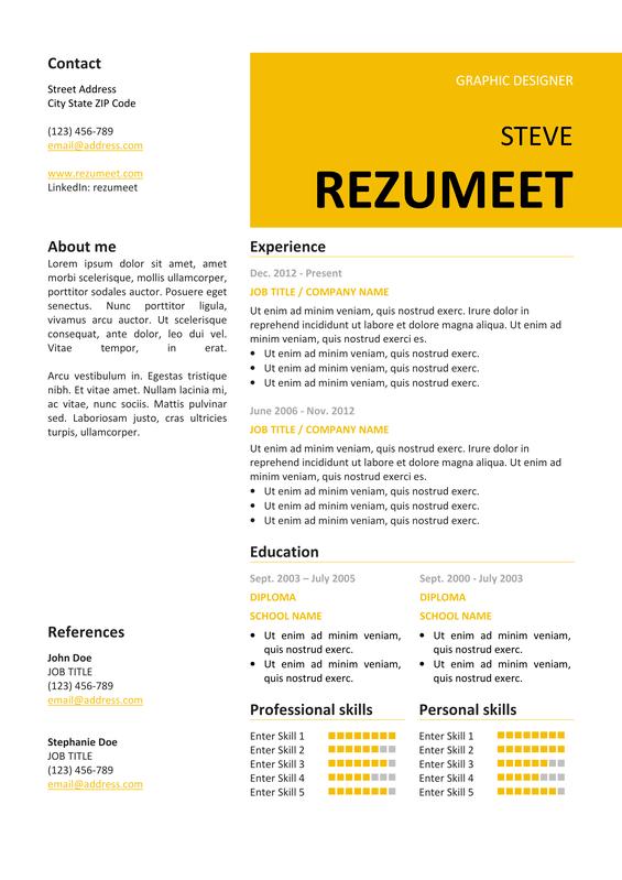 resume template 2007