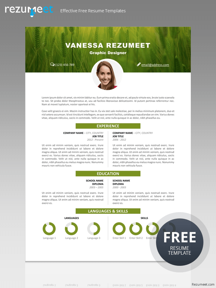 free creative resume templates word free download