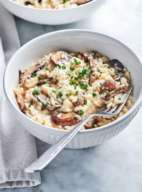 Recette Risotto Poulet Champignon : recette, risotto, poulet, champignon, Risotto, Champignons, L'autocuiseur, Ricardo