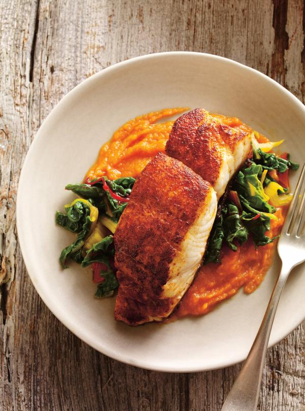 Seared Spiced Fish with Carrot Pure  Ricardo