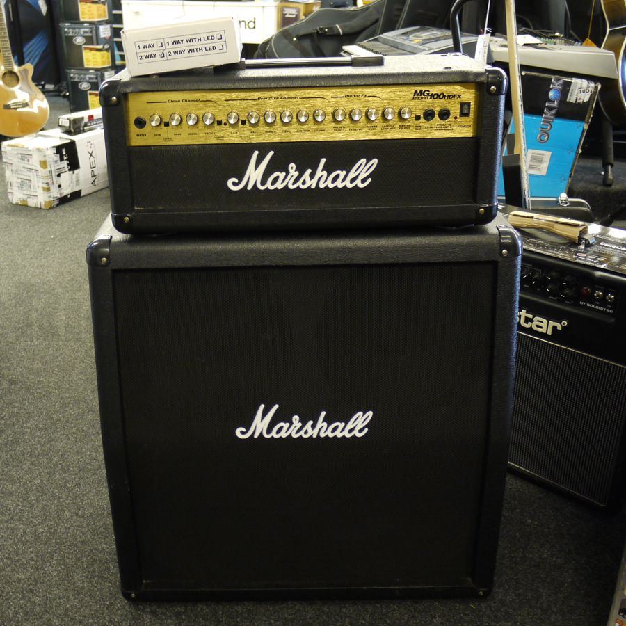 Marshall MG100HDFX With 4x12 Cab  2nd Hand  Rich Tone Music