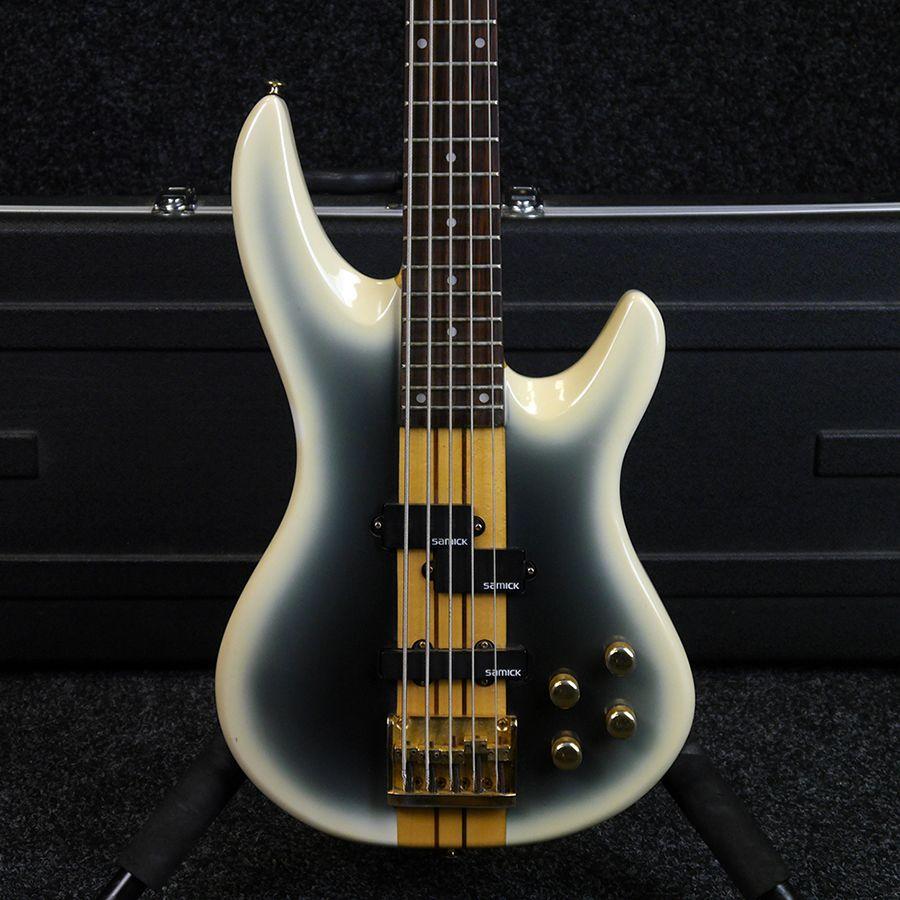medium resolution of samick artist series 5 string electric bass burst w hard case 2nd hand