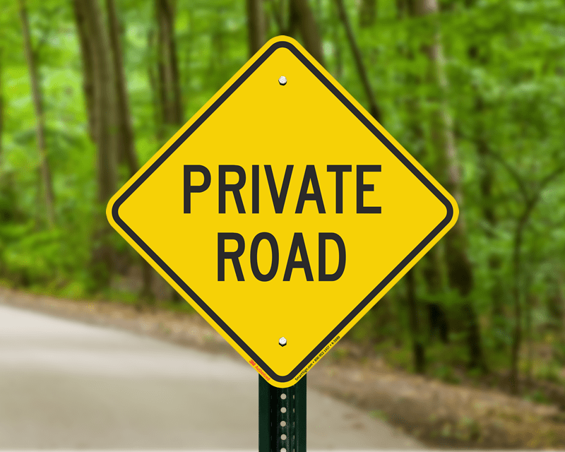 Private Road No Trespassing Signs
