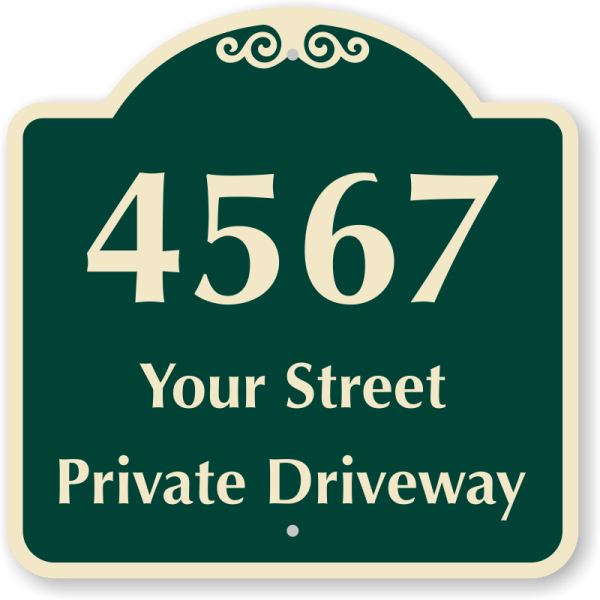 Custom Private Driveway Signs