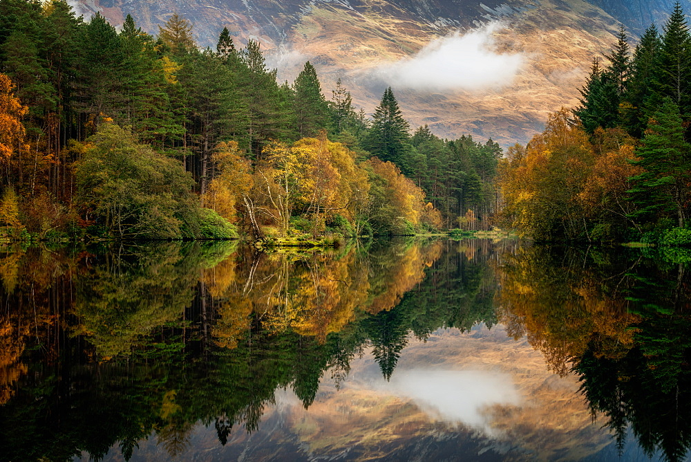 Stock photo of Autumn in Glencoe, Highlands, Scotland