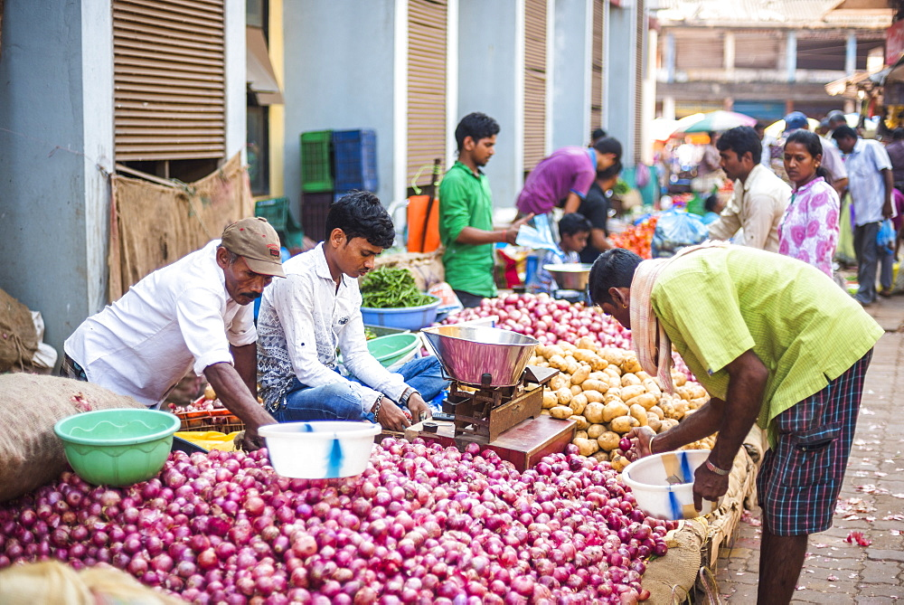 Picture of vegetables in Mapusa Market, Goa