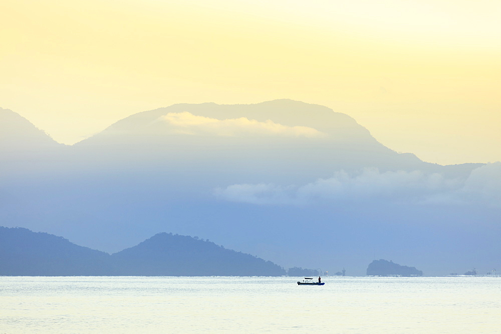 Stock travel Photo of Mountains and sea on the Green Coast, Rio de Janeiro state, Brazil