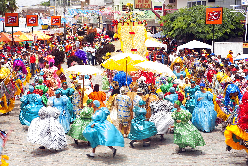 Stock travel picture of Maracatu parade at Rio Carnival