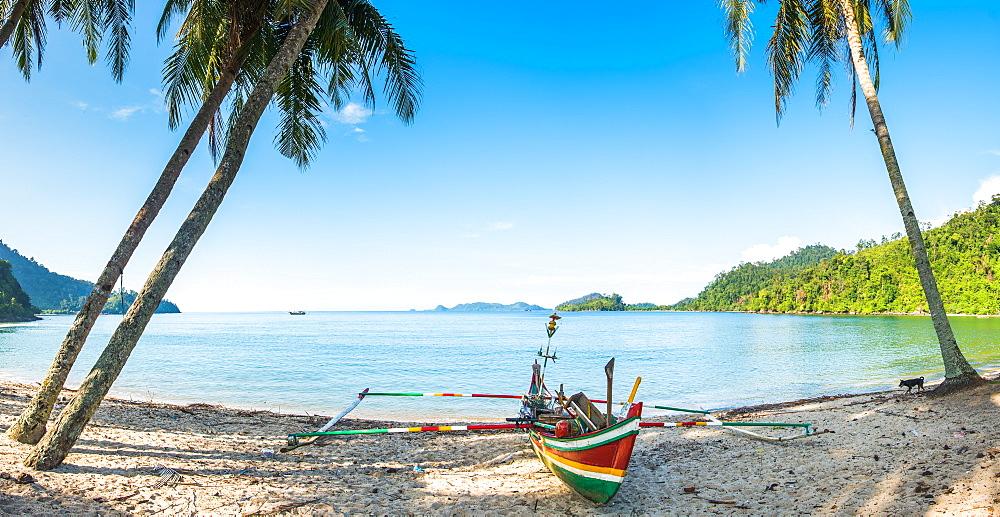 Stock travel photo: fishing boat in Sungai Pinang, Sumatra