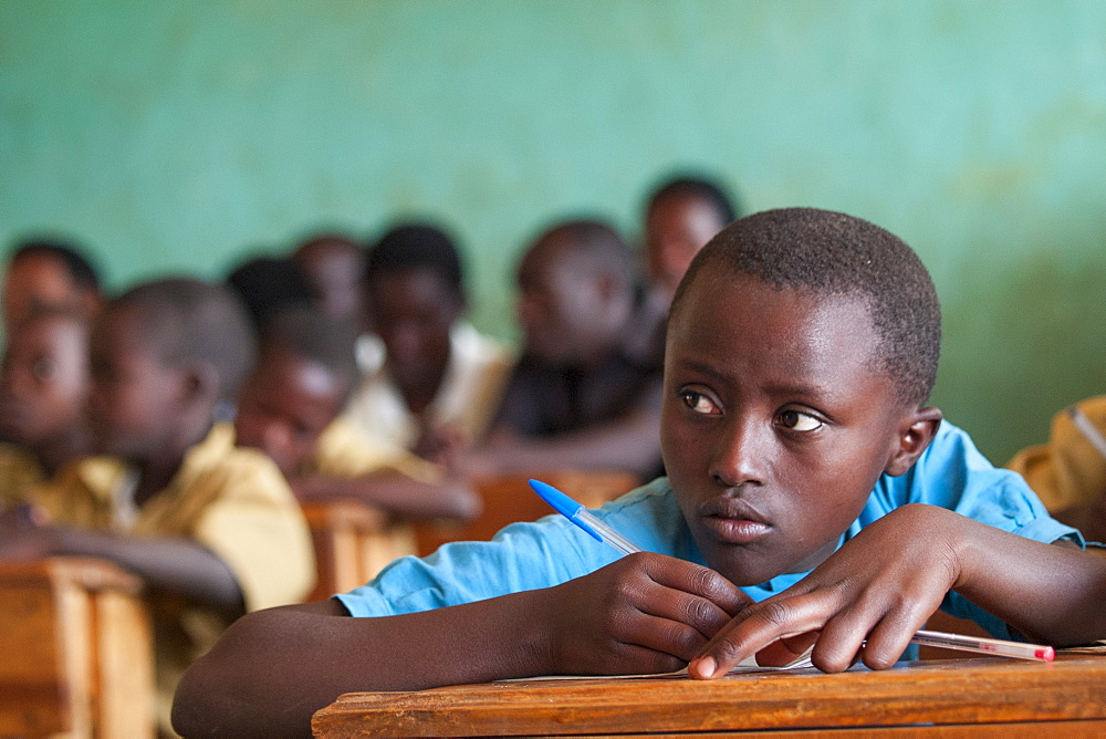 Stock photo of a school girl in Africa
