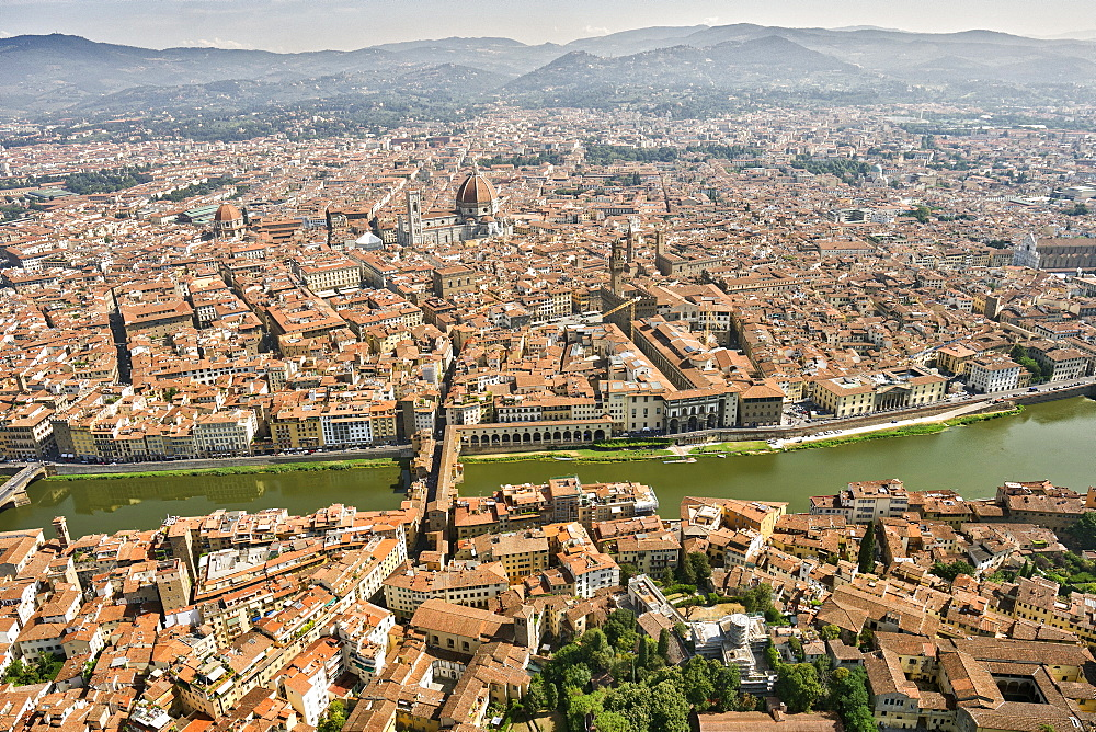 Stunning aerial view of Florence, Italy