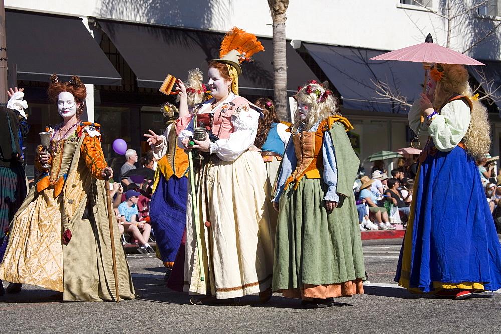 Stock image of the Doo Dah Parade in Pasadena, California