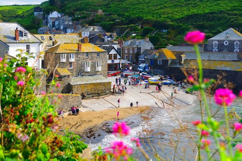 Stock photo of Port Isaac, Cornwall, England