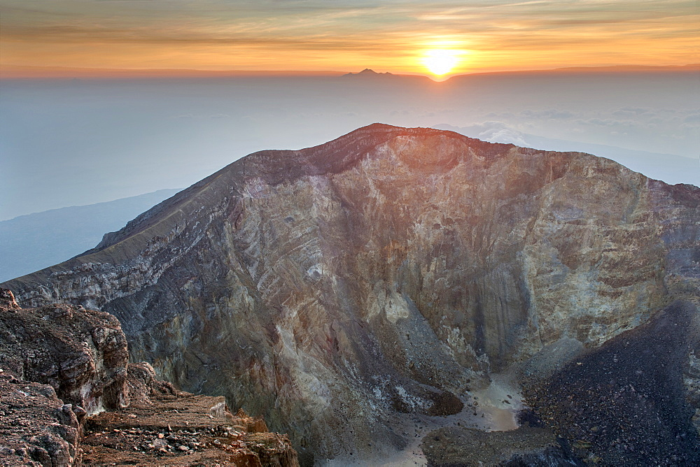 Stock photo of sunrise over Mount Gunung Agung, Bali