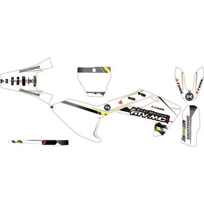Attack Graphics Alloy Complete Bike Graphics Kit White