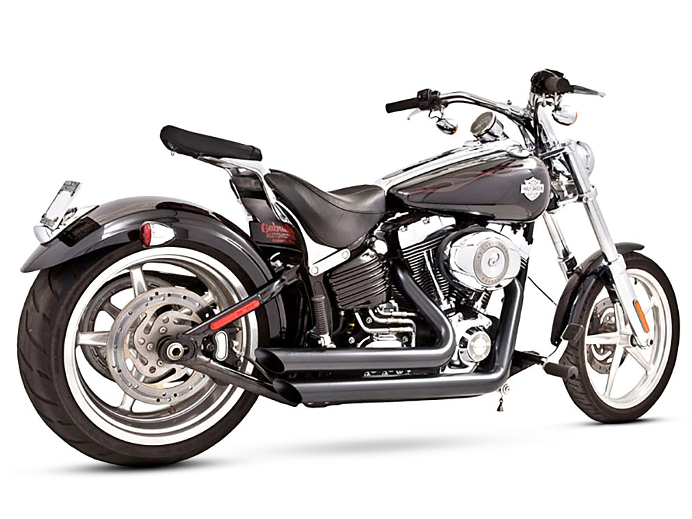 Amendment Exhaust with Black Finish. Fits Softail Breakout