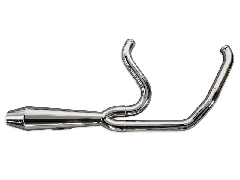 Radical Radius Exhaust with Chrome Finish & Chrome End