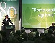 Alemanno a un convegno di Confagricoltura su Roma capitale agricola (foto Eidon)