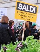 Una protesta degli agricoltori a Roma