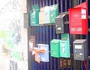 Cassette della posta in via Sorel 6, nell'ex scuola occupata (Russo)