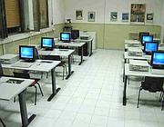 Un'aula per i corsi agli ex detenuti a Villa Maraini