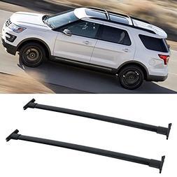 car truck racks automotive fits 11 15 ford explorer roof rack cross bar black pair