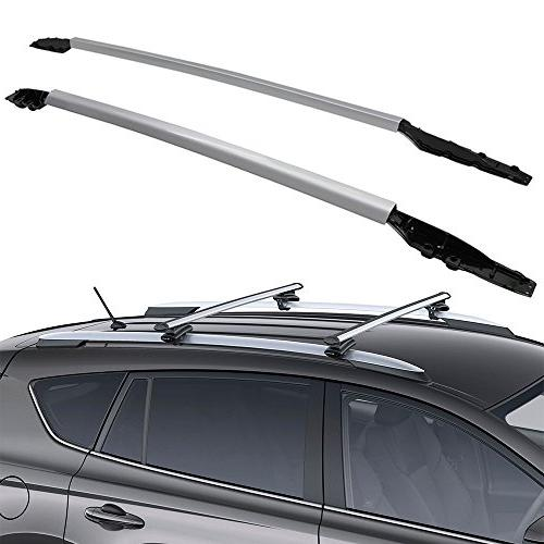 car truck racks for 2014 2015 2016 2017 2018 toyota rav4 roof rack side rails crossbar silver auto parts and vehicles
