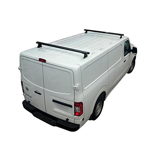 vantech h3 2 bar ladder roof van rack w endcaps 65 cross bars for nissan nv black cargo bars automotive