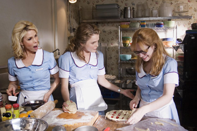 Cheryl Hines, Keri Russell and writer/director Adrienne Shelly.