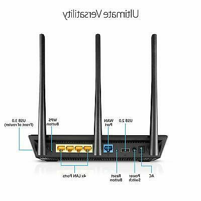 ASUS RT-AC66U B1 AC1750 Dual-Band WiFi Router, AiProtecti