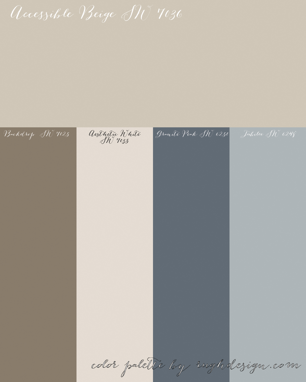 Accessible Beige SW 7036 With A Complementary Color Scheme Rugh Design