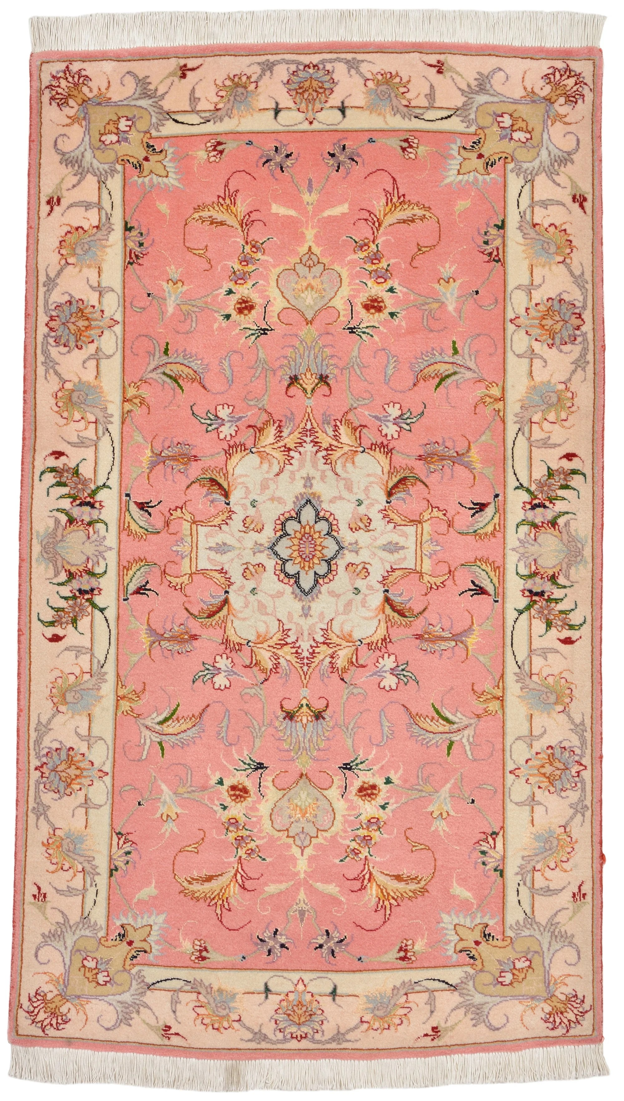 Coral 2 4 X 3 11 Tabriz Persian Rug Handknotted Com