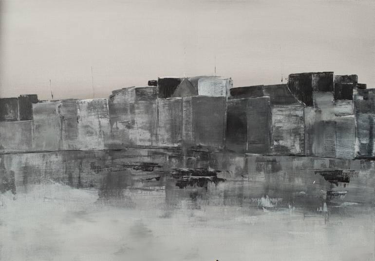 original cityscape painting landscape